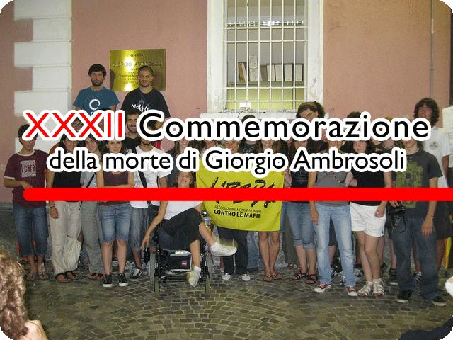 XXXII Commemorazione della morte di Giorgio Ambrosoli