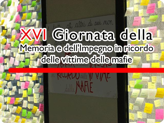 Verbania, 21 marzo 2011 XVI Giornata della Memoria e dell'Impegno in ricordo delle vittime delle mafie