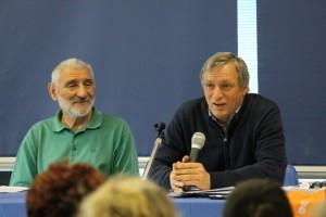 """Da sinistra Carlo Squizzi, presidente di """"Alternativa A"""" e don Luigi Ciotti, presidente di Libera"""